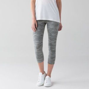 Lululemon Wunder Under Crop Grey Size 12
